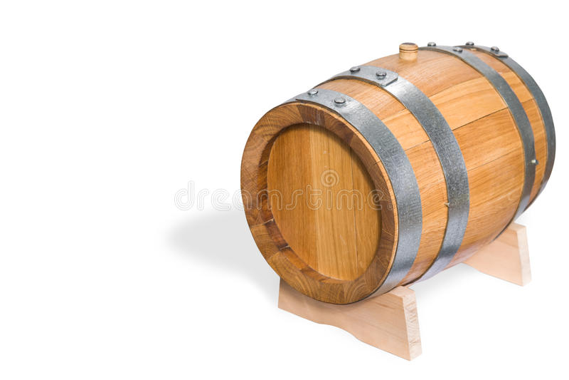Pequeño barril de vino imagen de archivo