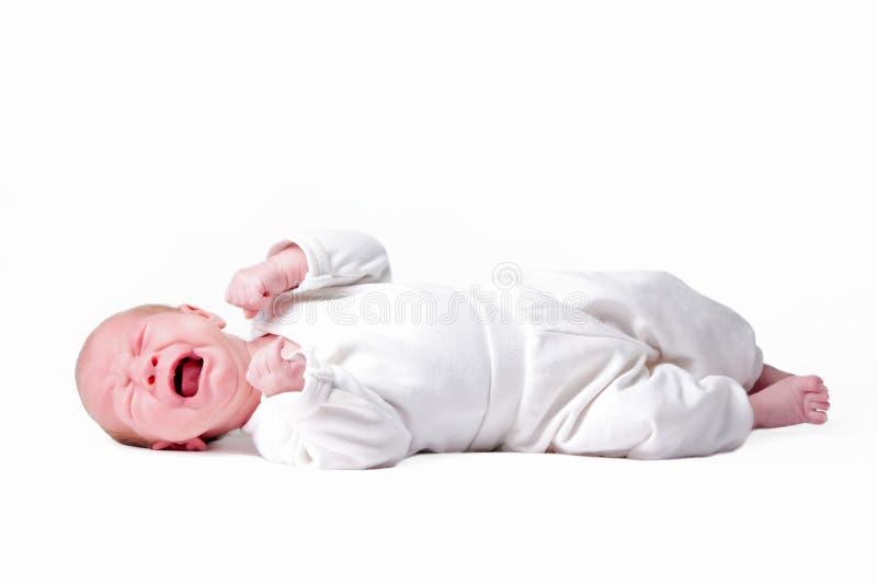 Pequeño bebé aislado imagen de archivo