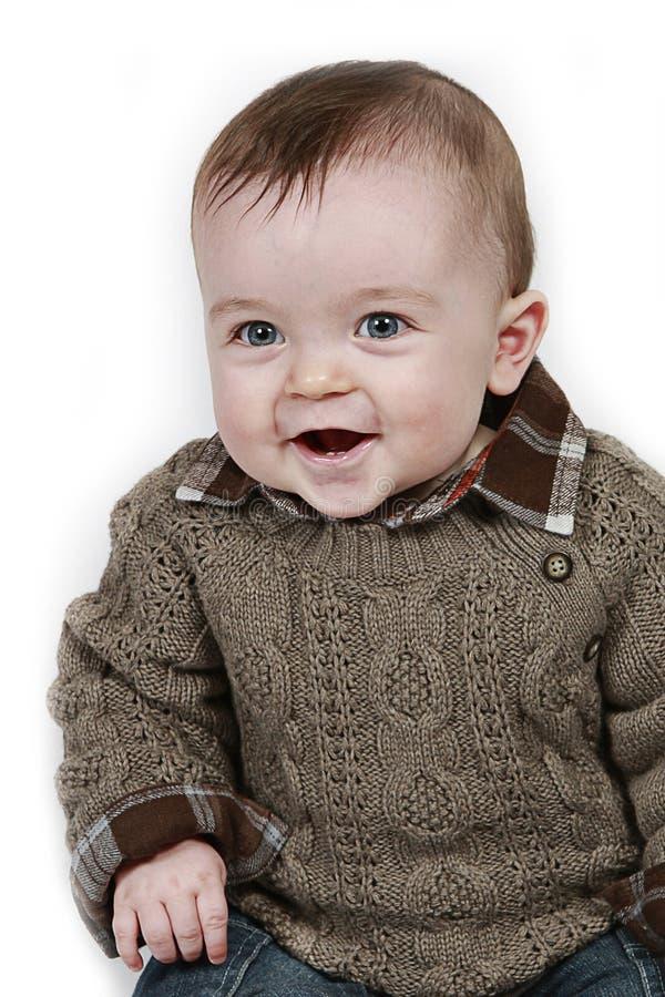 Pequeño bebé en el primer tomado blanco imágenes de archivo libres de regalías