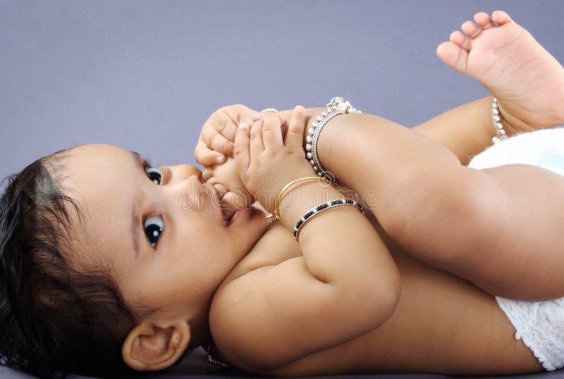 Pequeño bebé indio foto de archivo libre de regalías