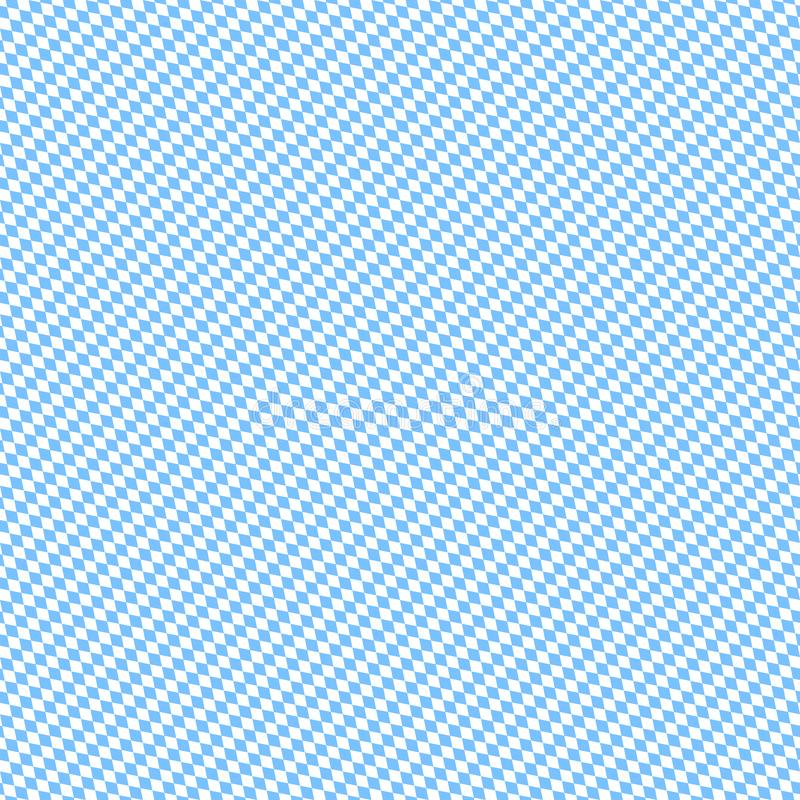 Pequeño blanco diagonal inconsútil de Octoberfest Diamond Pattern Light Blue And ilustración del vector