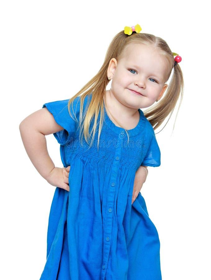 Pequeño blonde rechoncho adorable de la muchacha, primer imágenes de archivo libres de regalías