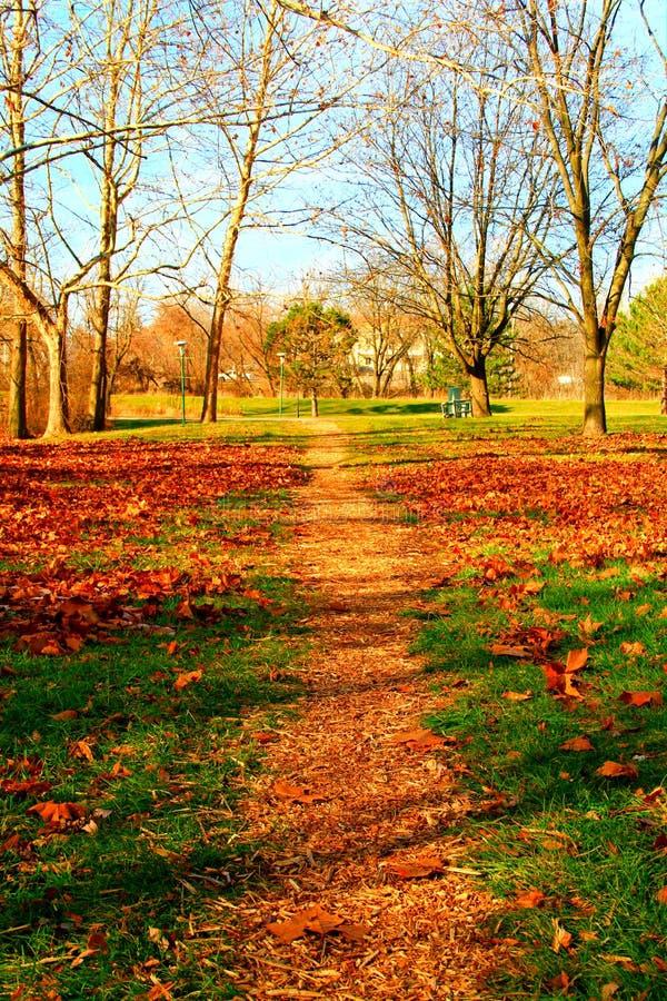 Pequeño camino en el otoño foto de archivo libre de regalías