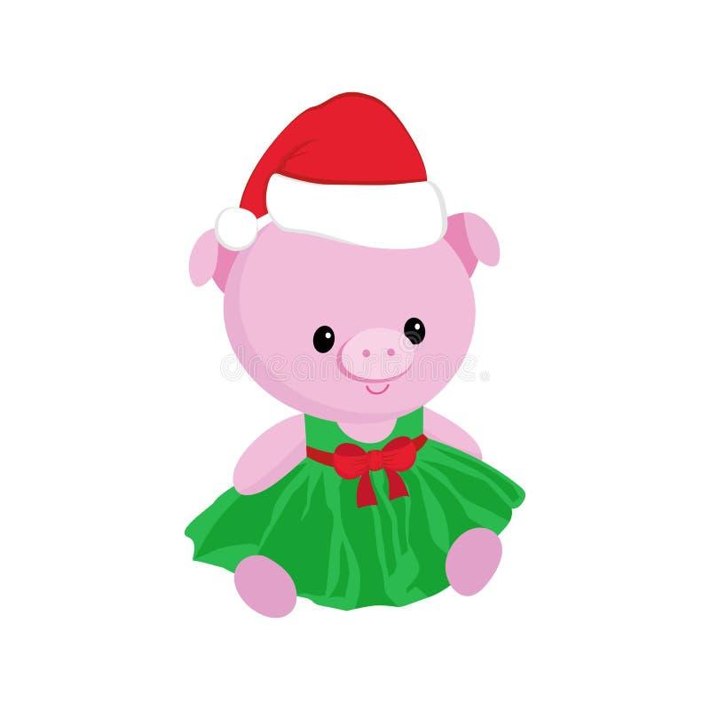 Pequeño carácter 2019, juguete guarro del cochinillo del cerdo del símbolo lindo del Año Nuevo del peluche-oso libre illustration