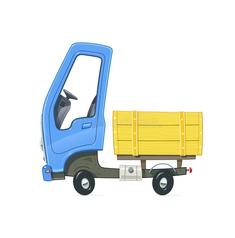 Pequeño carro stock de ilustración
