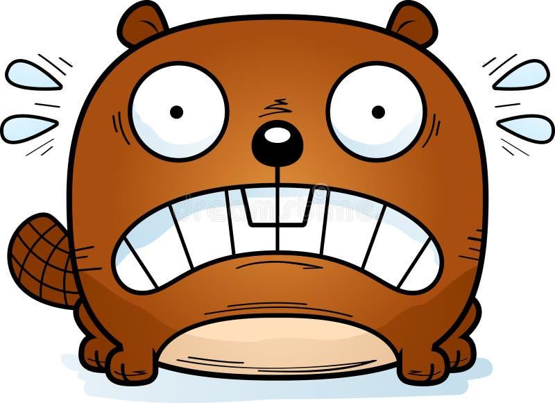 Pequeño castor aterrorizado libre illustration