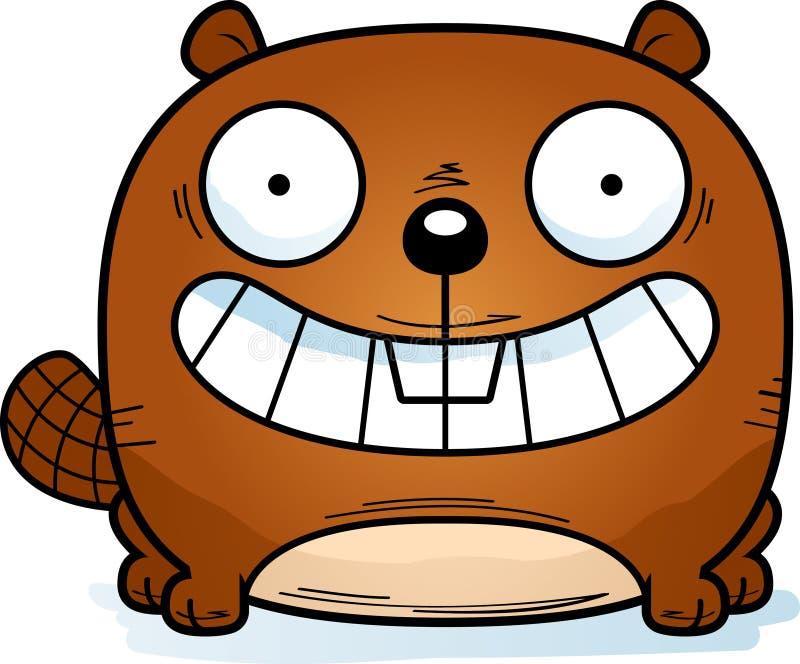 Pequeño castor feliz libre illustration