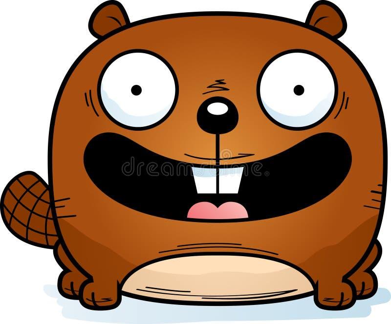 Pequeño castor sonriente libre illustration