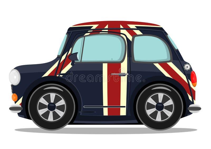 Pequeño coche de la historieta ilustración del vector
