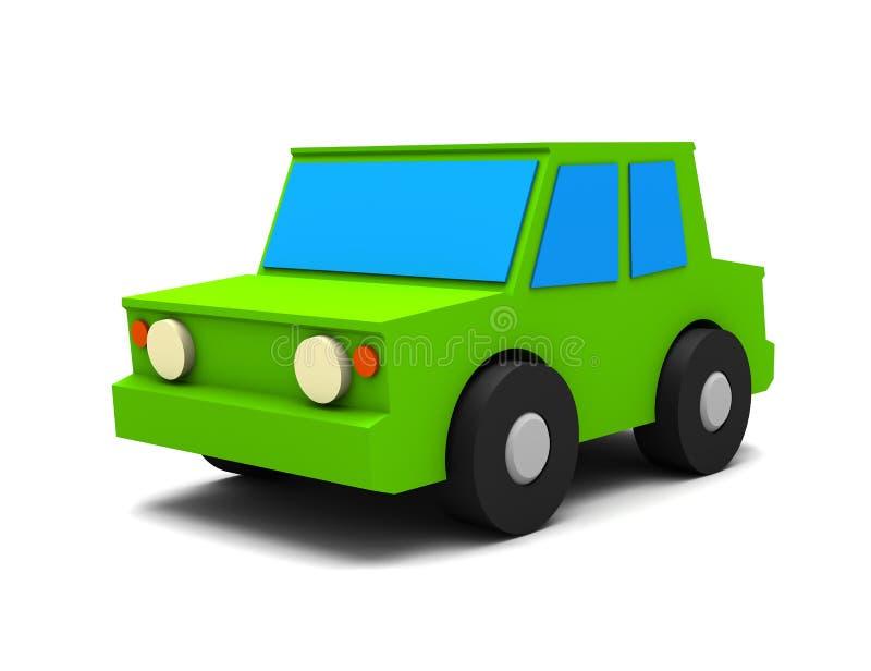 pequeño coche verde 3D ilustración del vector