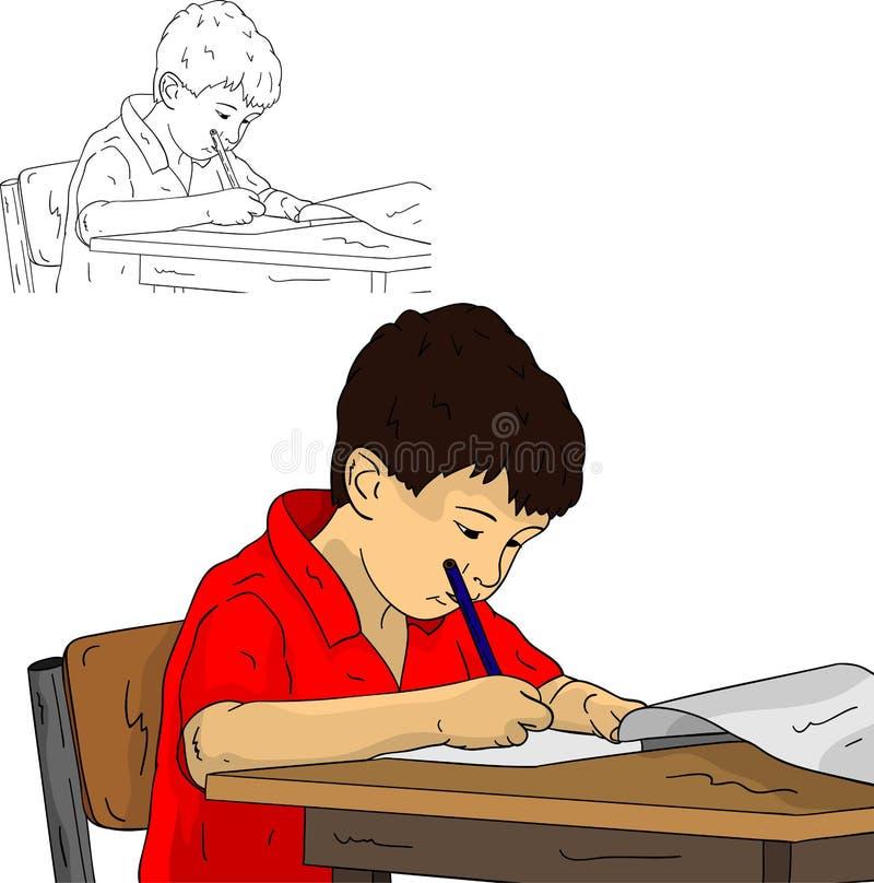Pequeño colegial ilustración del vector