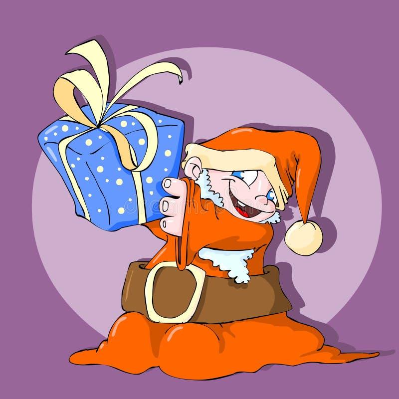 Pequeño color de Papá Noel ilustración del vector