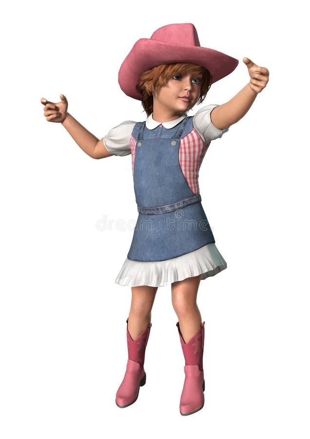 Pequeño Cowgirl ilustración del vector