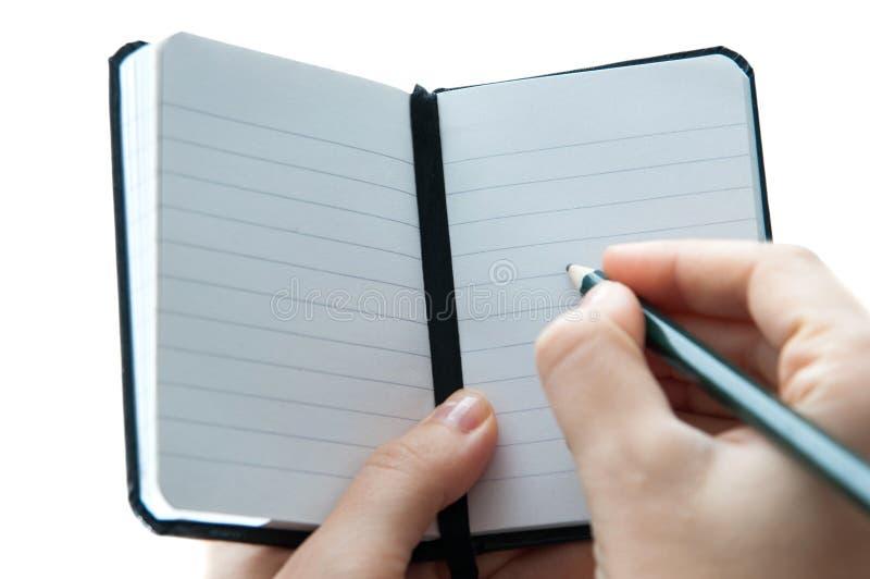 Pequeño cuaderno fotos de archivo