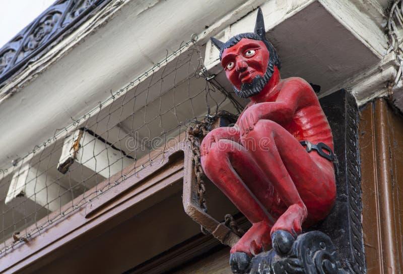 Pequeño diablo en Stonegate en York fotos de archivo