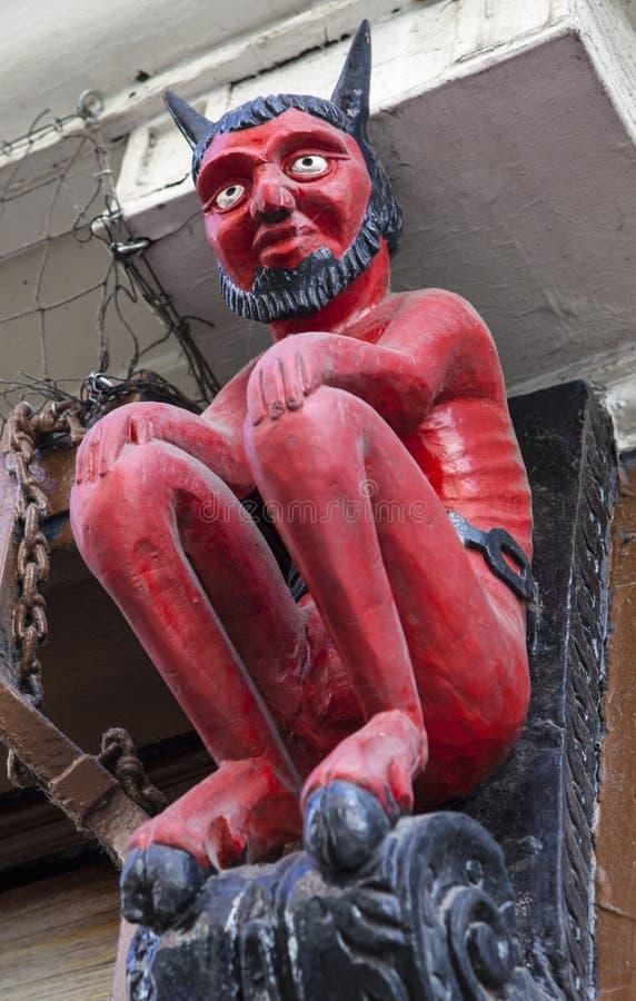 Pequeño diablo en Stonegate en York foto de archivo libre de regalías