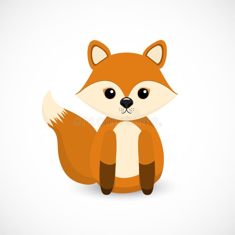 Pequeño diseño lindo de la historieta del Fox imagenes de archivo