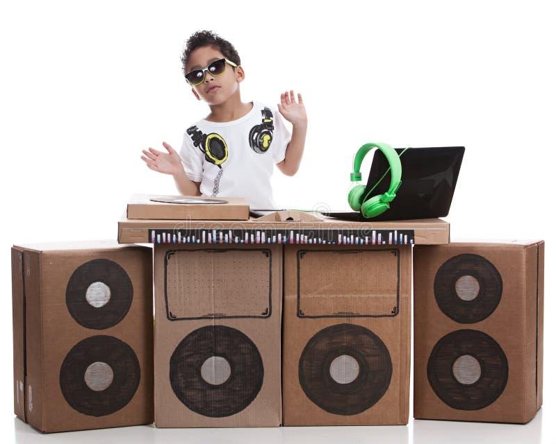 Pequeño DJ fotografía de archivo