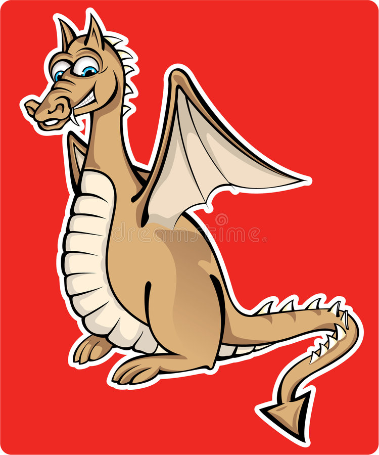 Pequeño dragón feliz libre illustration
