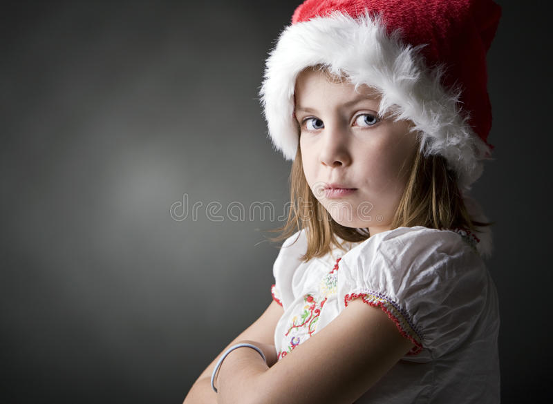 Pequeño duende gruñón de la Navidad imagen de archivo libre de regalías