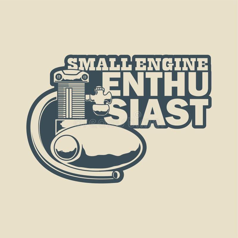 Pequeño ejemplo del entusiasta del motor stock de ilustración