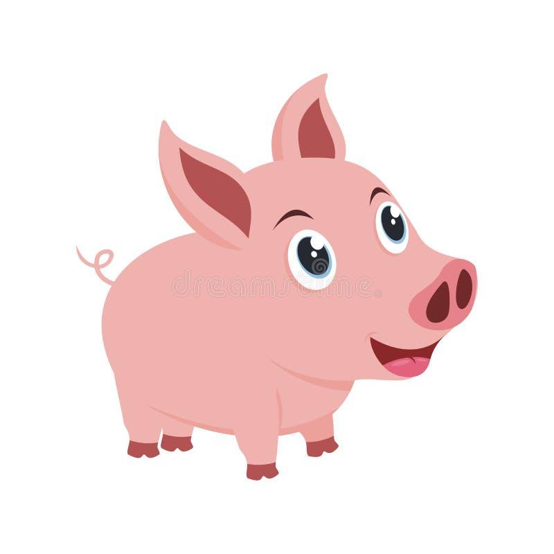 Pequeño ejemplo precioso del cerdo ilustración del vector