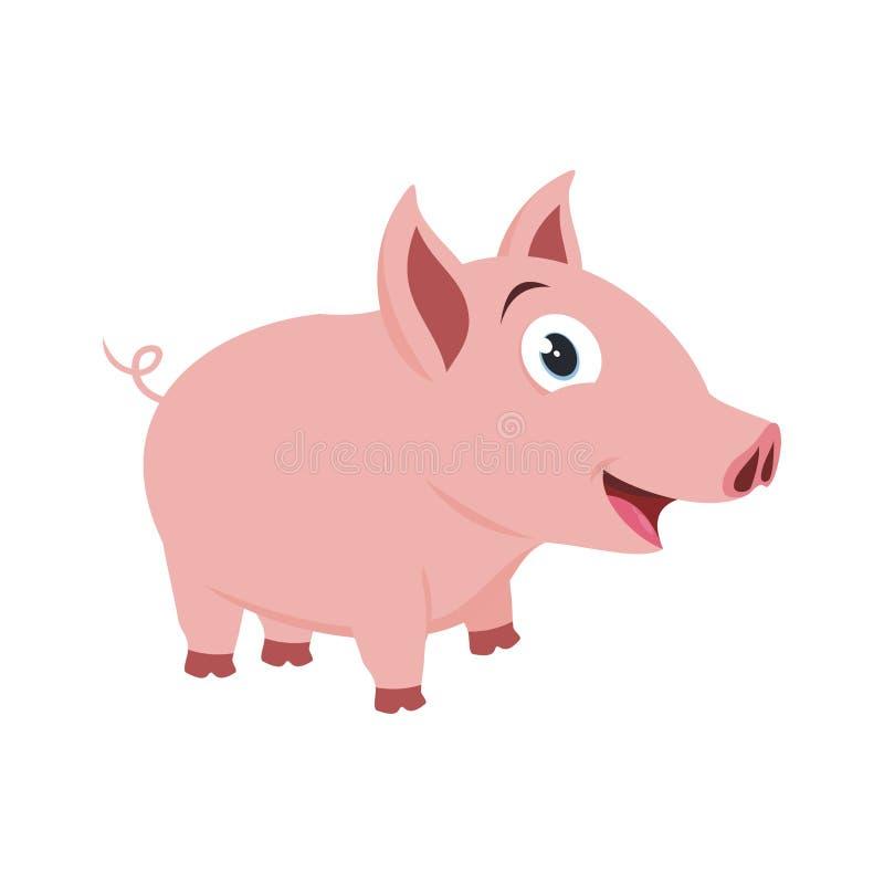 Pequeño ejemplo precioso del cerdo stock de ilustración