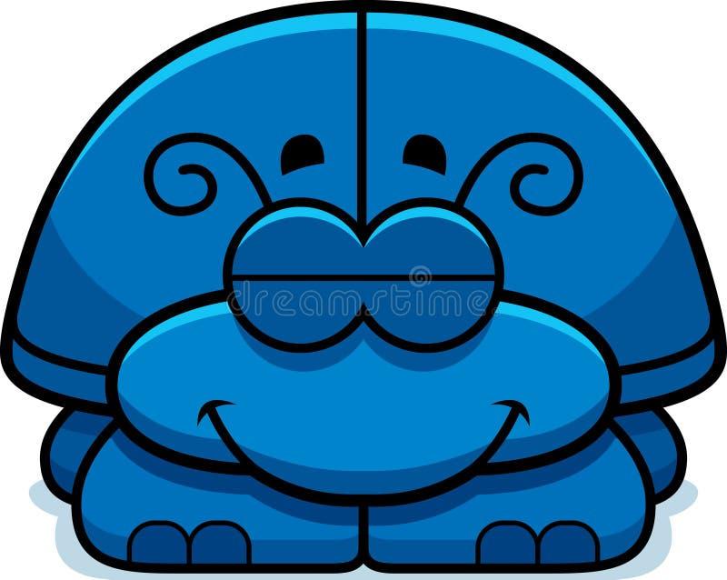 Pequeño escarabajo el dormir stock de ilustración