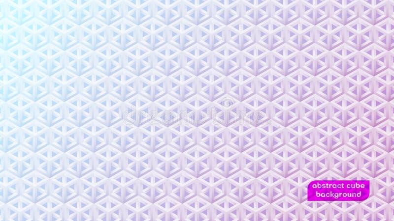 Pequeño fondo abstracto de la pendiente del cubo 3D libre illustration