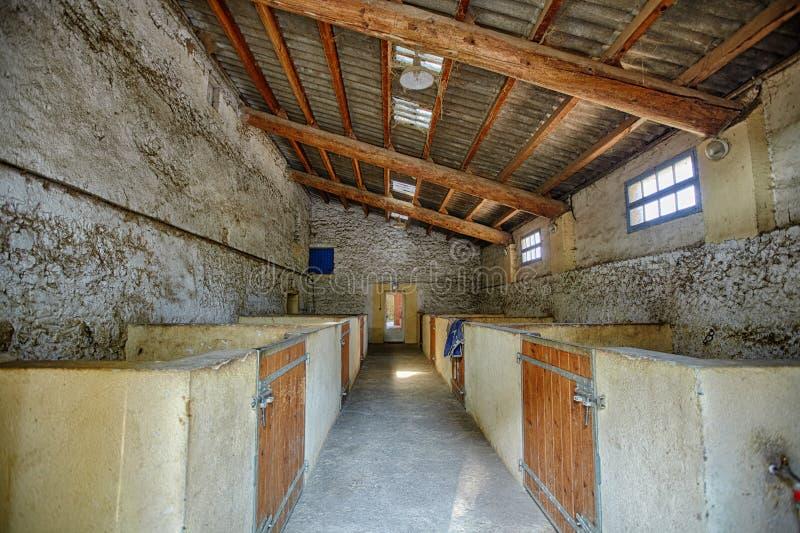 Pequeño granero viejo en Francia cerca de hacha-uno-Provence sin cualquier caballos foto de archivo