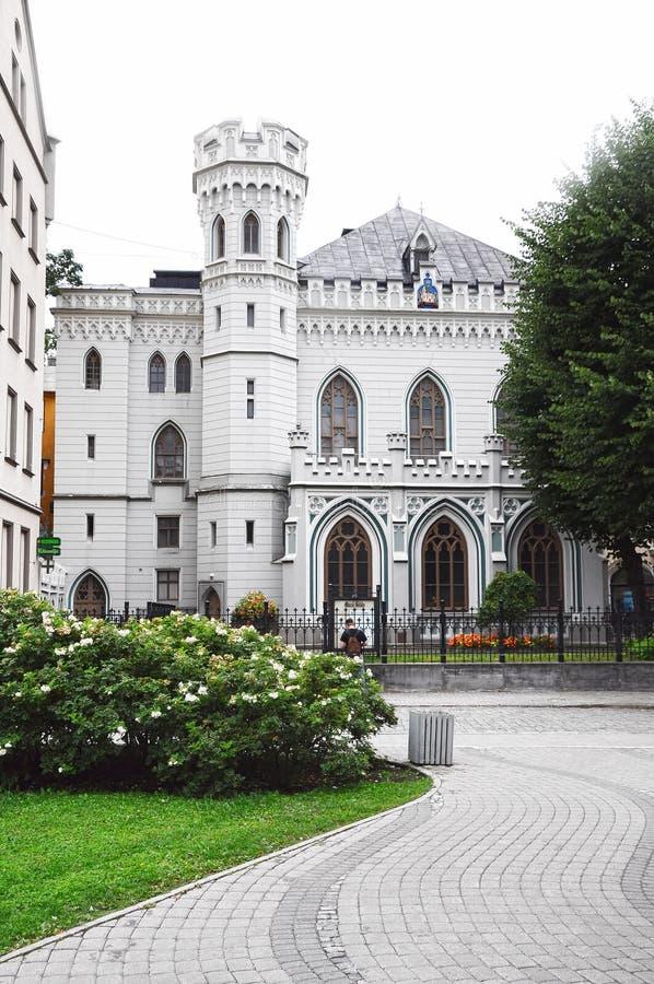 Pequeño gremio en la ciudad vieja de Riga foto de archivo libre de regalías