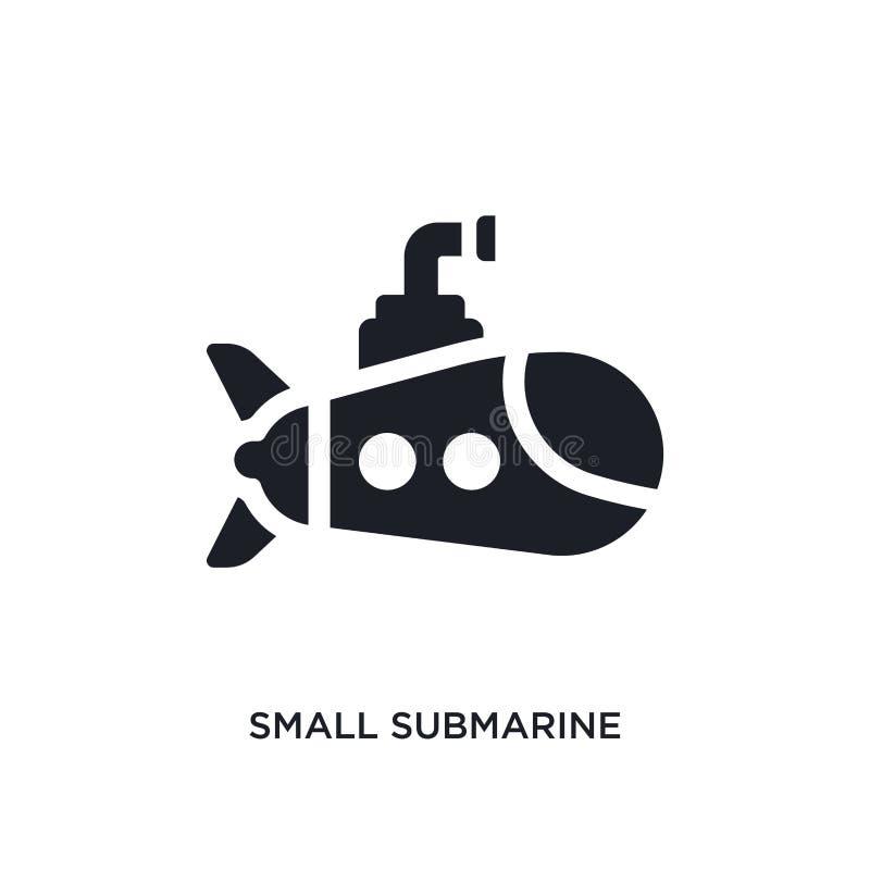 pequeño icono aislado submarino negro del vector ejemplo simple del elemento de iconos del vector del concepto del transporte-ayt stock de ilustración