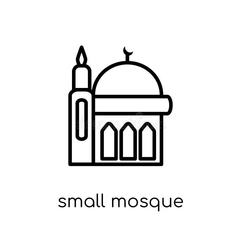 Pequeño icono de la mezquita Pequeña mezquita del vector linear plano moderno de moda libre illustration