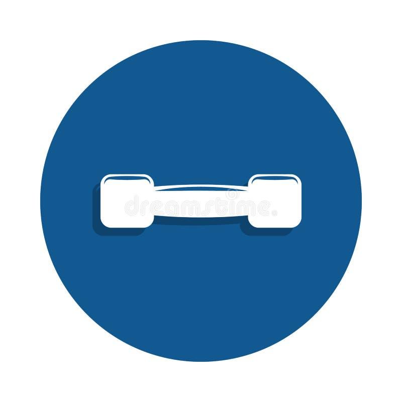 pequeño icono de las pesas de gimnasia en estilo de la insignia Uno del icono de la colección del deporte se puede utilizar para  ilustración del vector