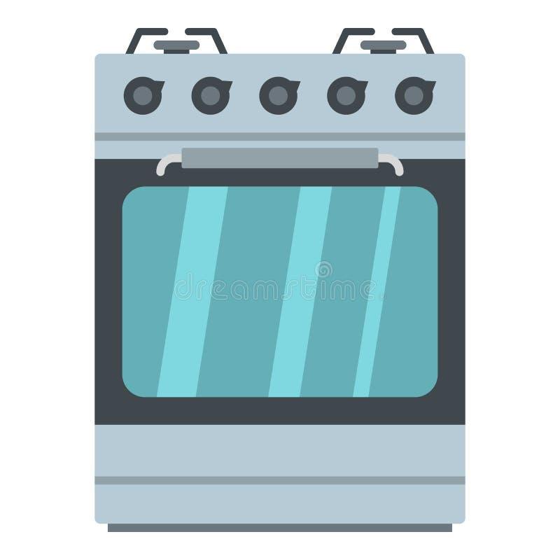 Pequeño icono del horno de gas, estilo de la historieta stock de ilustración