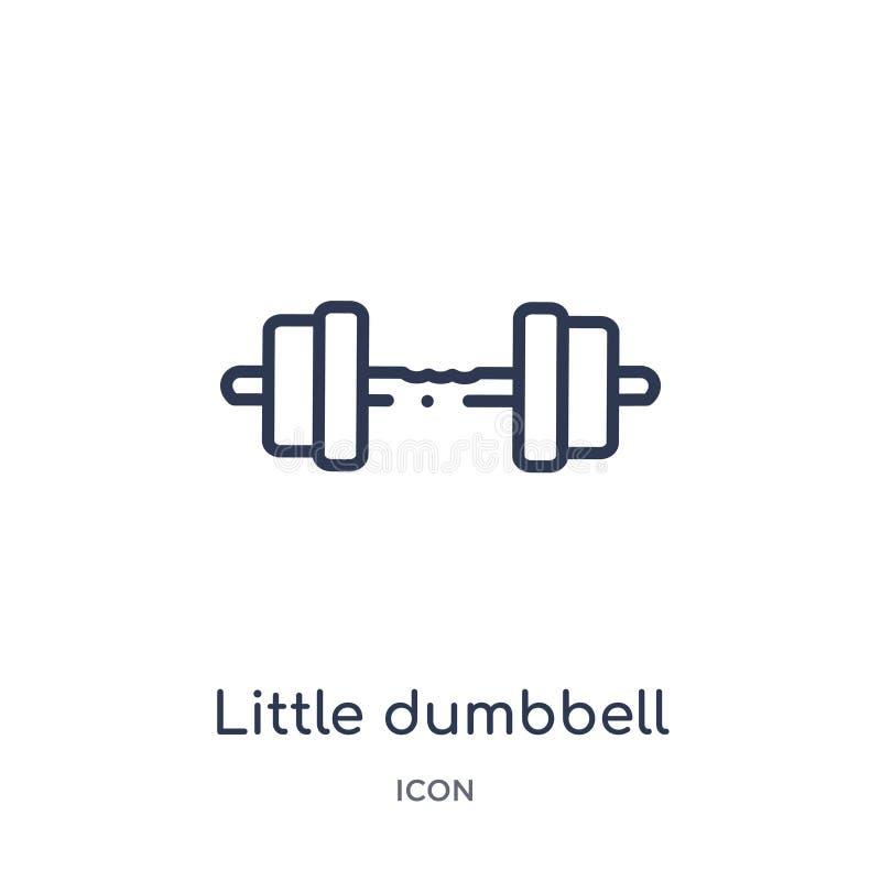 Pequeño icono linear de la pesa de gimnasia del gimnasio y de la colección del esquema de la aptitud Línea fina pequeño icono de  libre illustration