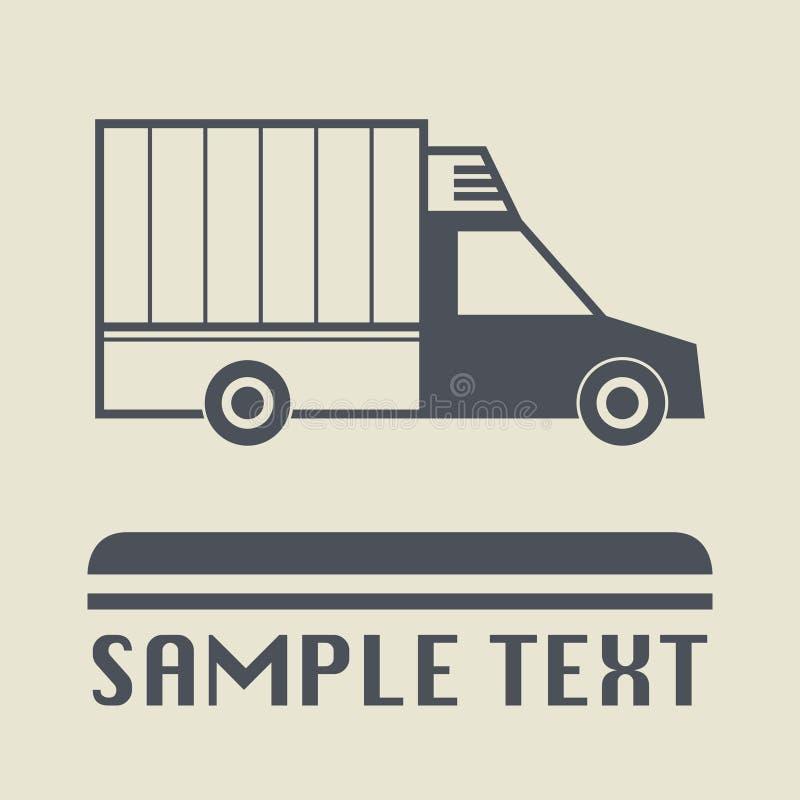 Pequeño icono o muestra del camión de reparto libre illustration