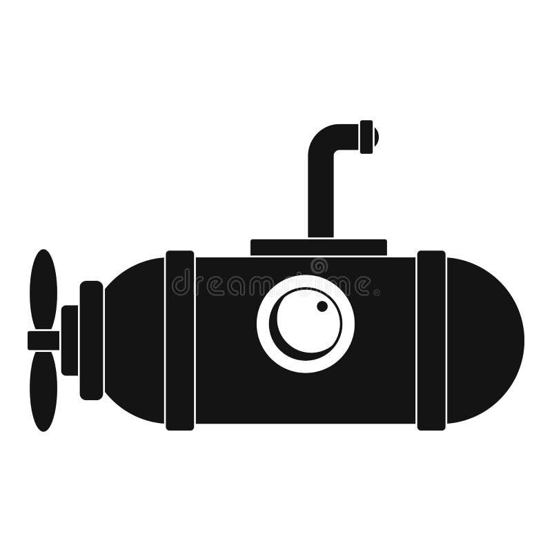 Pequeño icono submarino, estilo simple ilustración del vector