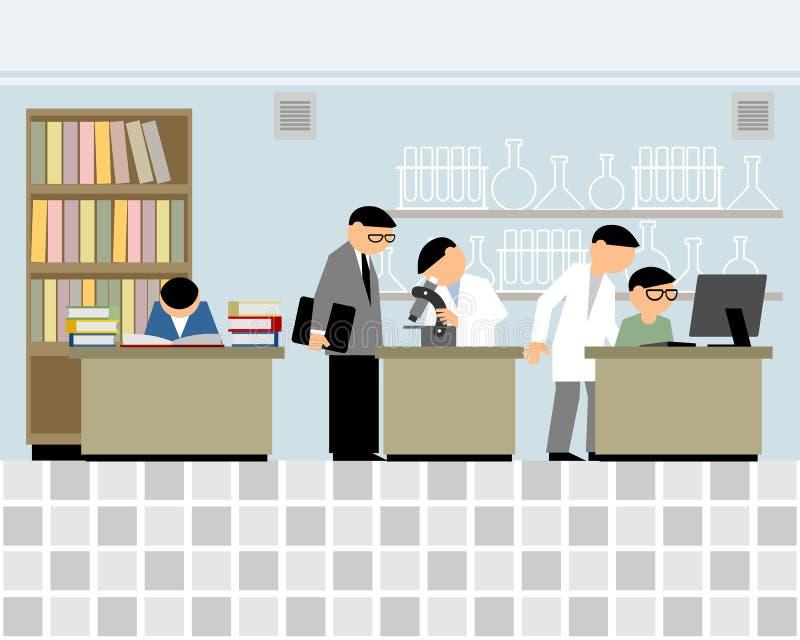 Pequeño laboratorio de ciencia libre illustration