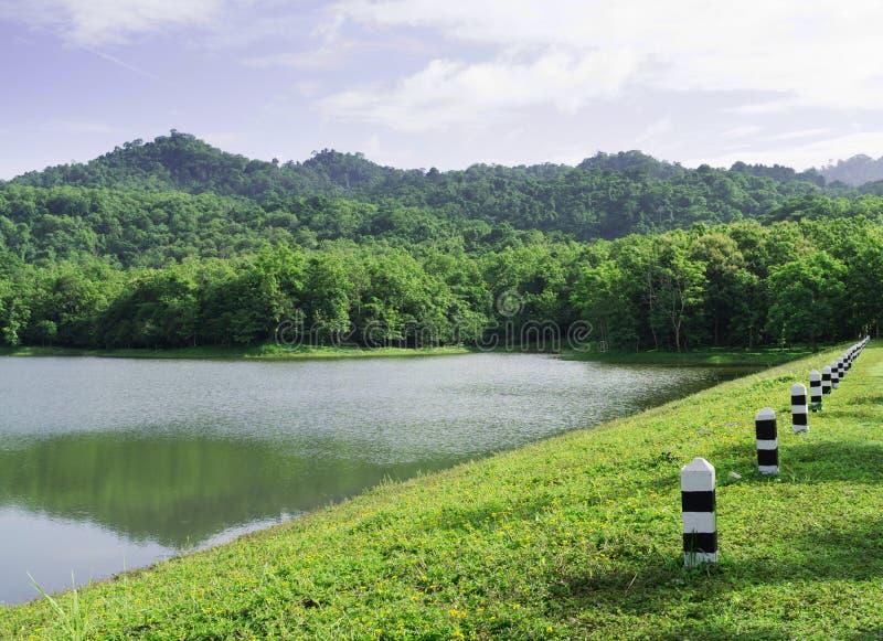 Pequeño lago de la montaña en el parque nacional de Jedkod, Tailandia fotografía de archivo libre de regalías