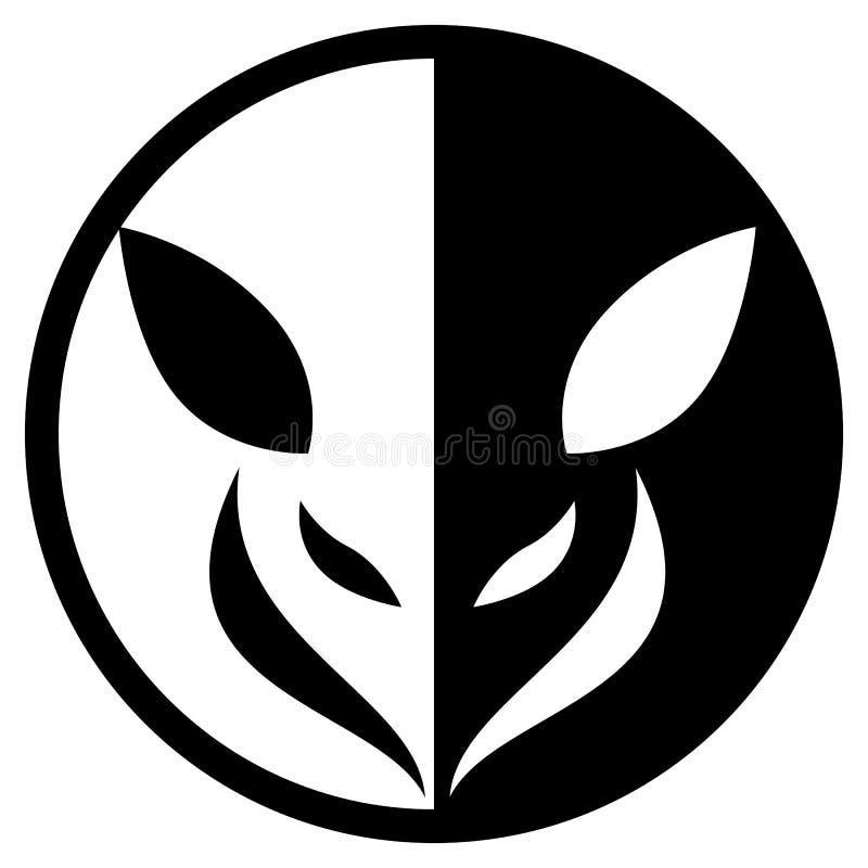 Pequeño Logo Isolated Vector Illustration circular animal stock de ilustración