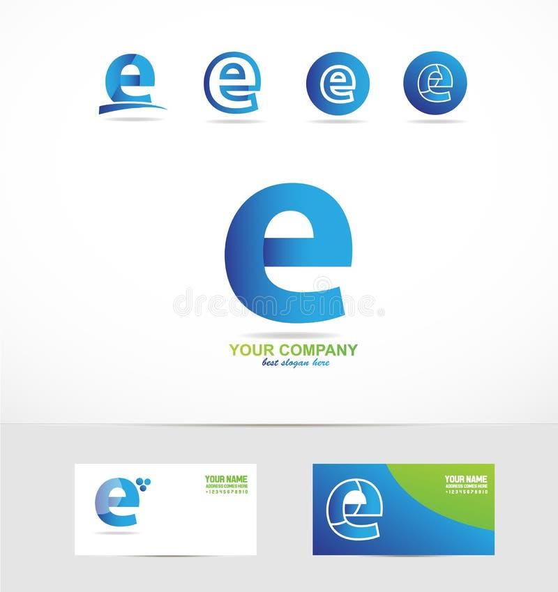 Pequeño logotipo de la letra e stock de ilustración