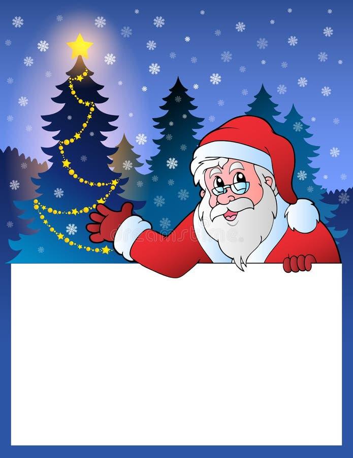 Pequeño marco con Santa Claus 2 stock de ilustración