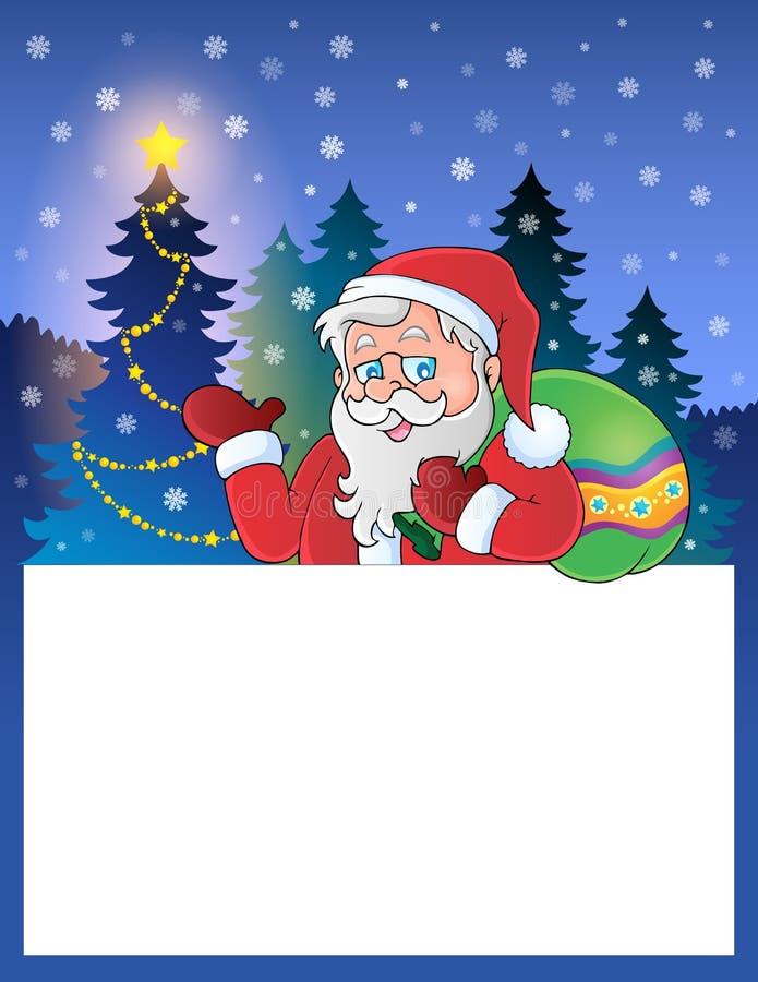 Pequeño marco con Santa Claus 1 stock de ilustración