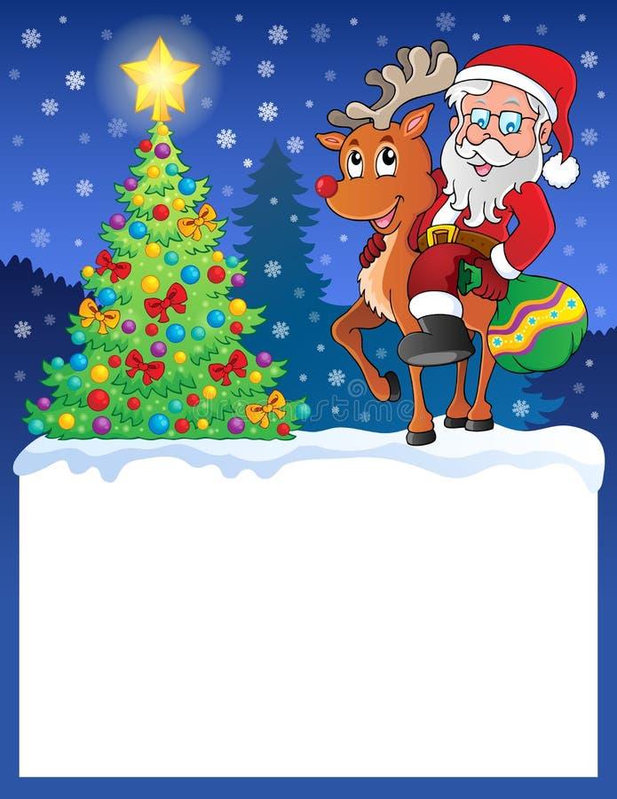 Pequeño marco con Santa Claus 9 stock de ilustración