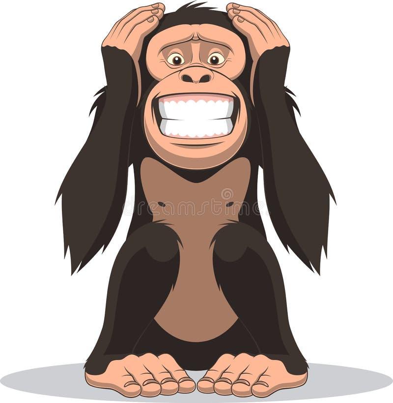 Pequeño mono divertido stock de ilustración