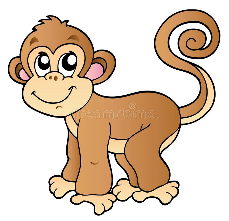 Pequeño mono lindo stock de ilustración