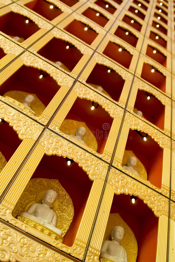Pequeño mosaico de Buddha fotografía de archivo