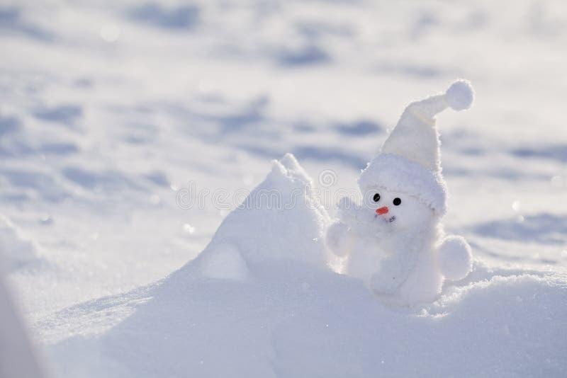 Pequeño muñeco de nieve. imagen de archivo libre de regalías
