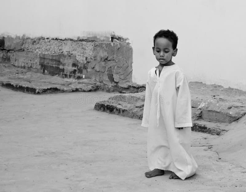 Pequeño muchacho egipcio fotografía de archivo libre de regalías